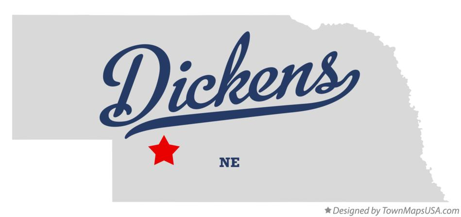 Map of Dickens Nebraska NE