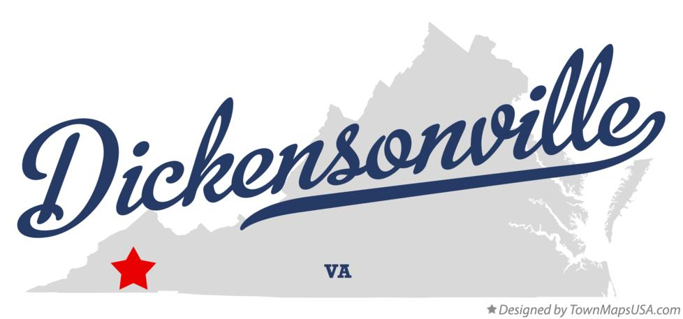 Map of Dickensonville Virginia VA