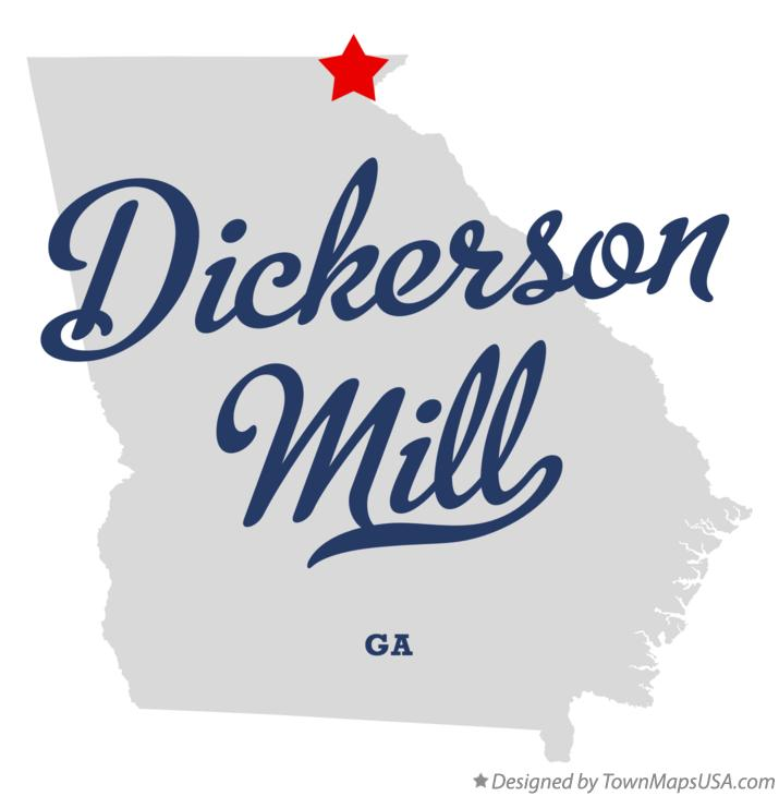 Map of Dickerson Mill Georgia GA