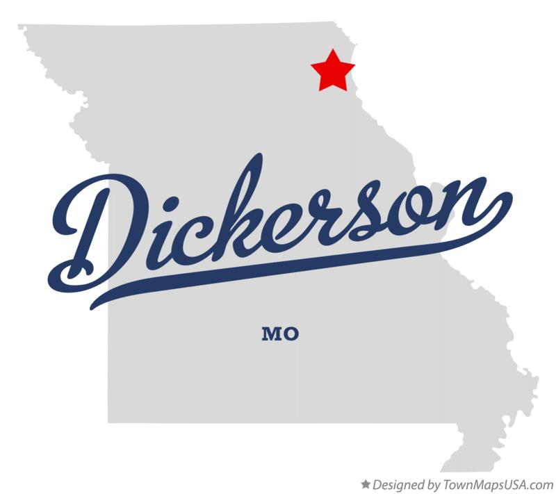 Map of Dickerson Missouri MO