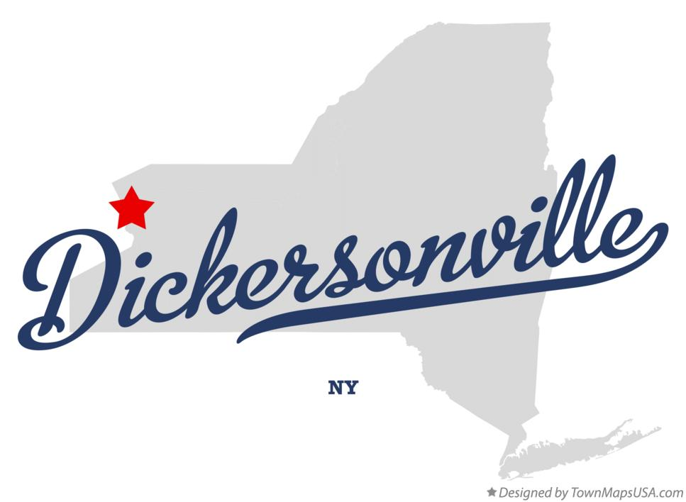 Map of Dickersonville New York NY