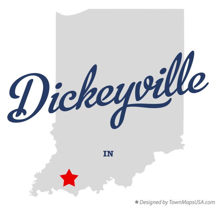 Map of Dickeyville Indiana IN