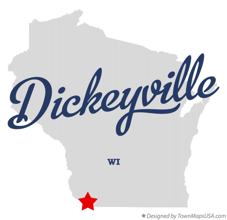 Map of Dickeyville Wisconsin WI