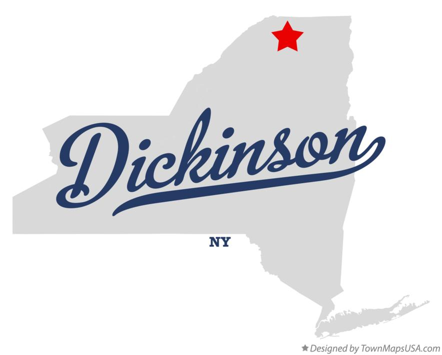 Map of Dickinson New York NY