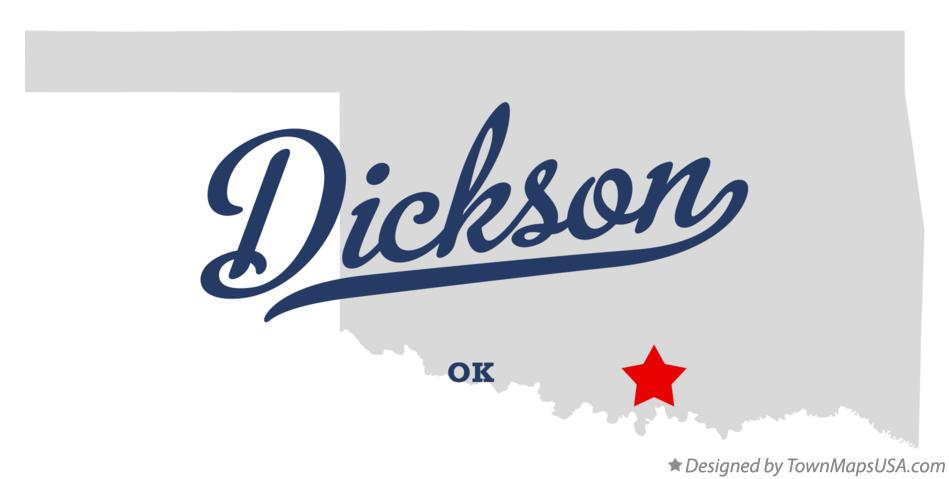 Map of Dickson Oklahoma OK