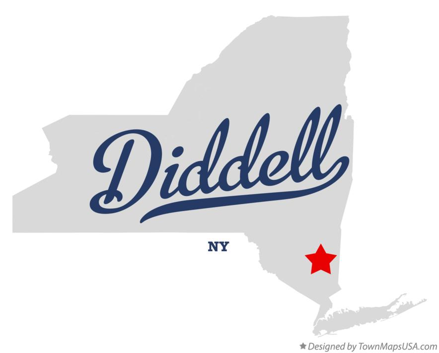 Map of Diddell New York NY