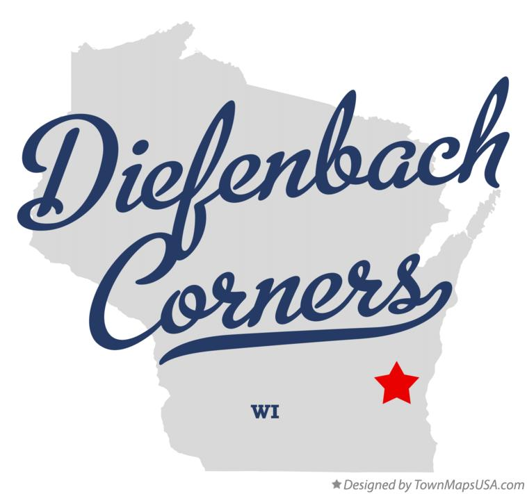 Map of Diefenbach Corners Wisconsin WI
