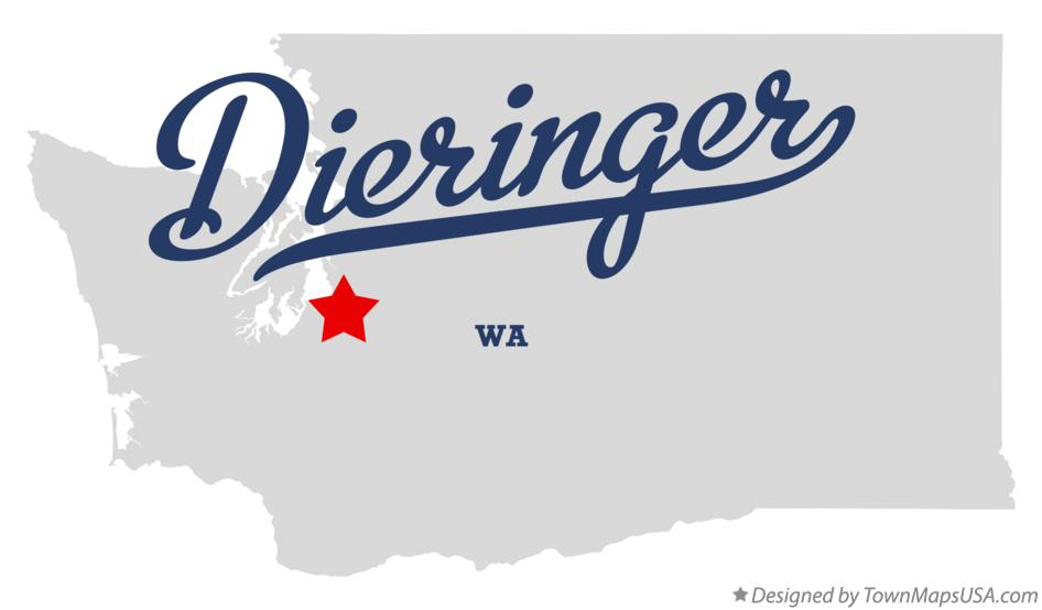Map of Dieringer Washington WA