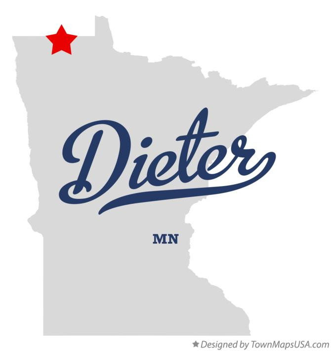 Map of Dieter Minnesota MN