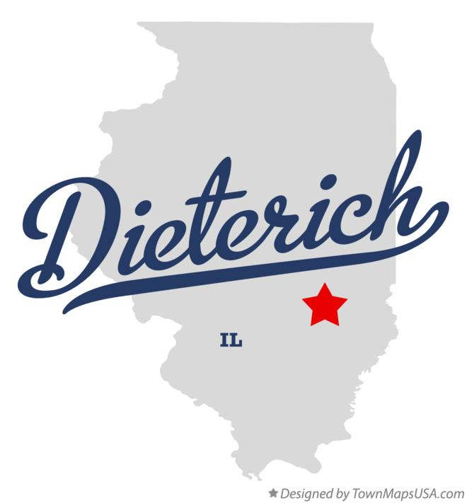 Map of Dieterich Illinois IL