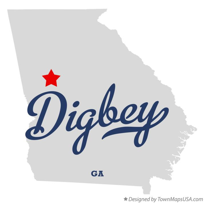 Map of Digbey Georgia GA