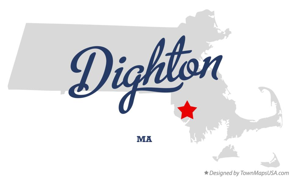 Map of Dighton Massachusetts MA