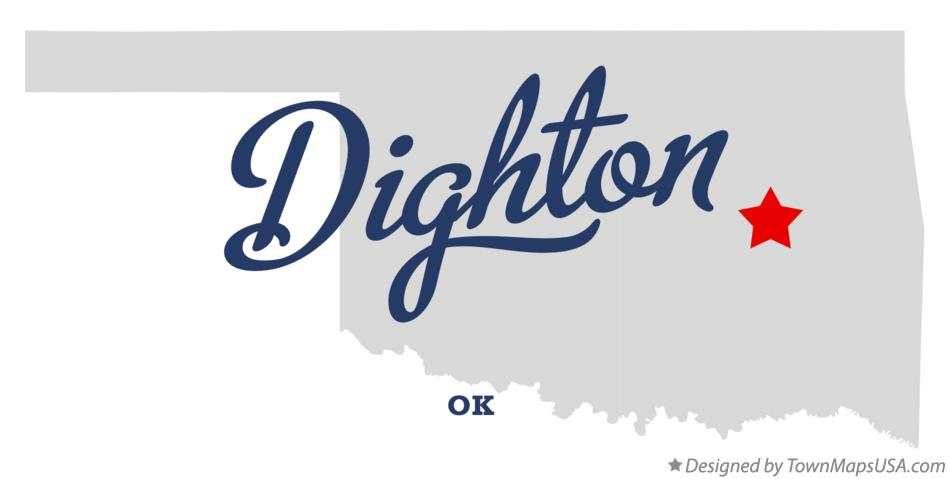 Map of Dighton Oklahoma OK