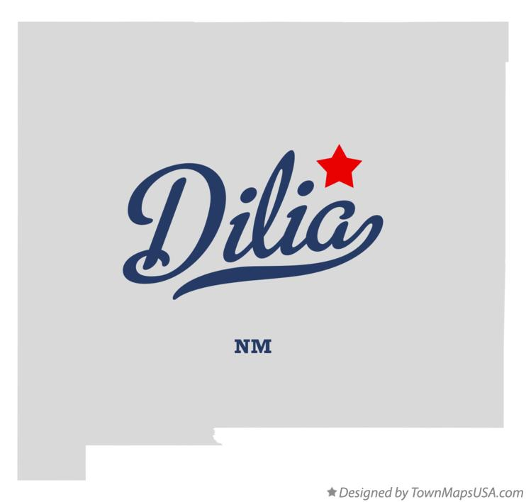 Map of Dilia New Mexico NM