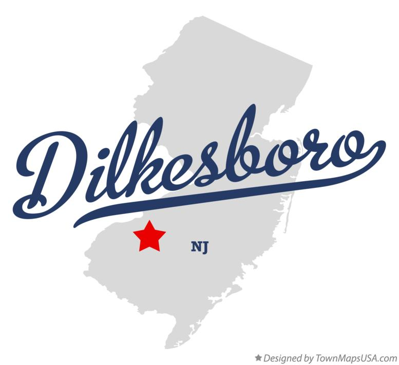 Map of Dilkesboro New Jersey NJ