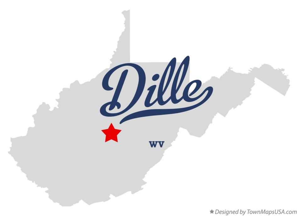 Map of Dille West Virginia WV