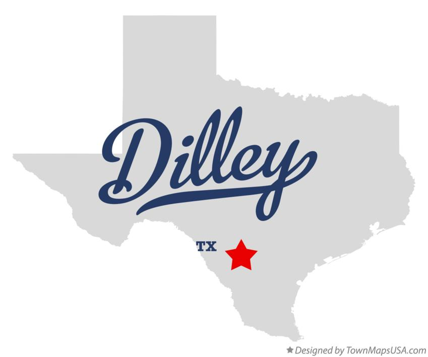 Map of Dilley Texas TX