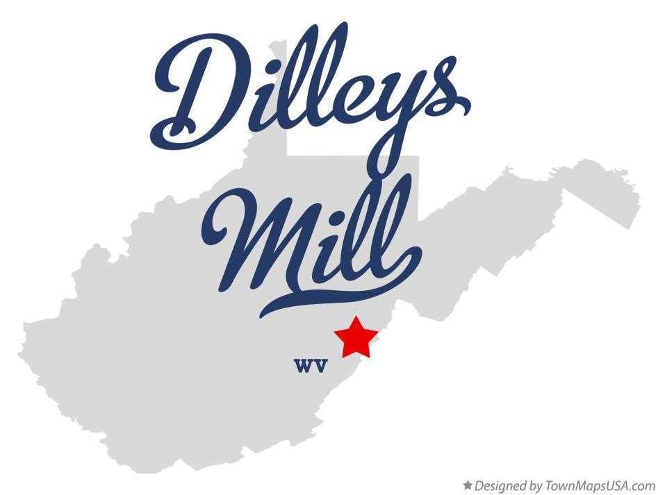 Map of Dilleys Mill West Virginia WV