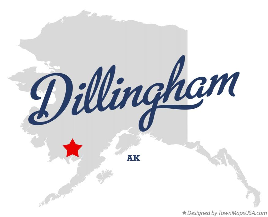 Map of Dillingham Alaska AK