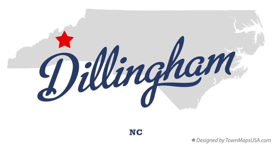 Map of Dillingham North Carolina NC
