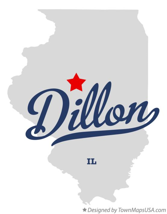 Map of Dillon Illinois IL