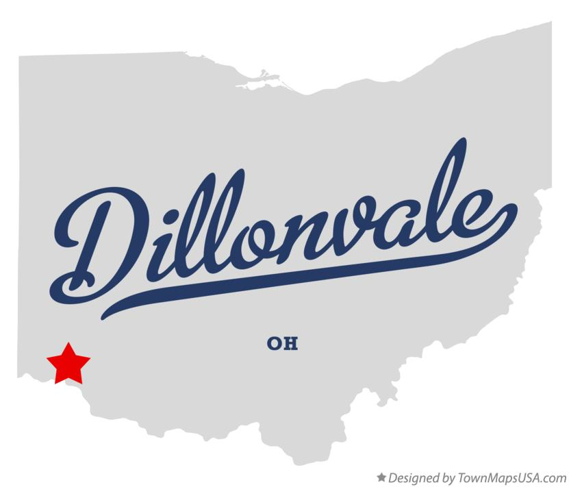 Map of Dillonvale Ohio OH