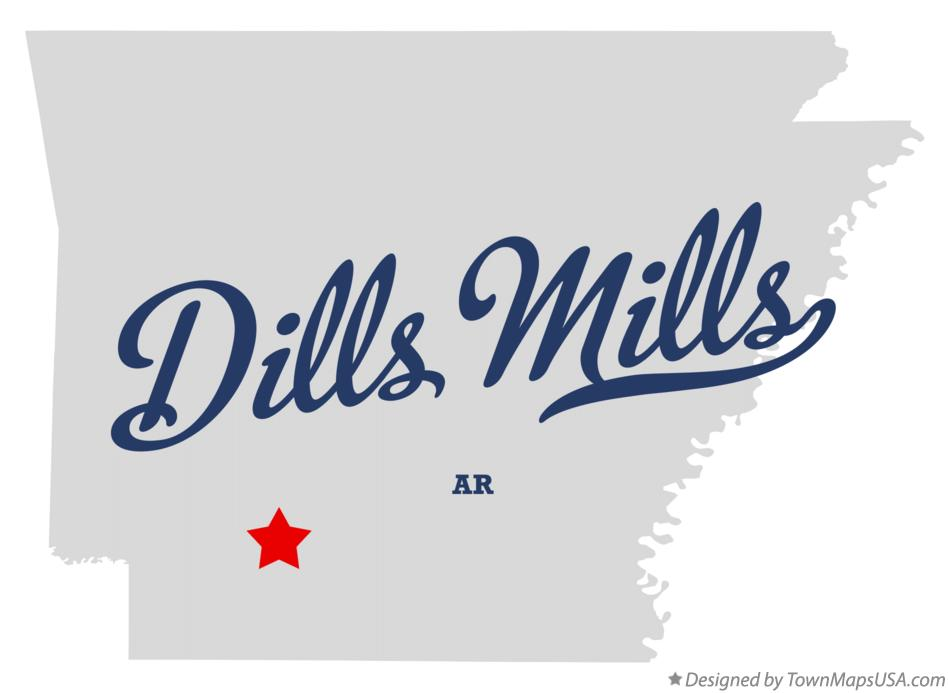Map of Dills Mills Arkansas AR