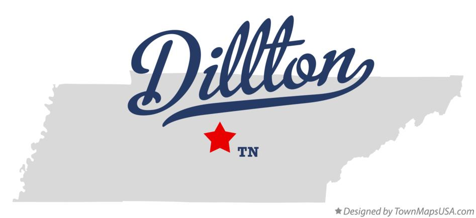Map of Dillton Tennessee TN