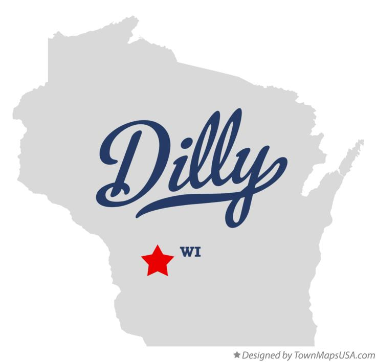 Map of Dilly Wisconsin WI