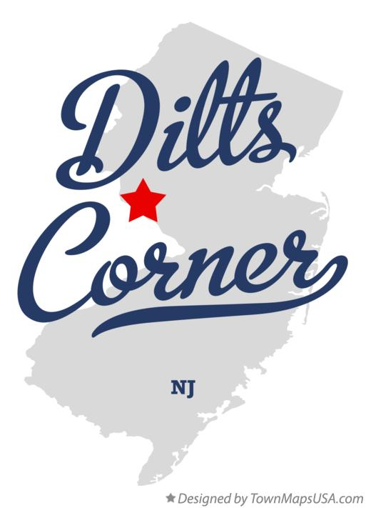 Map of Dilts Corner New Jersey NJ