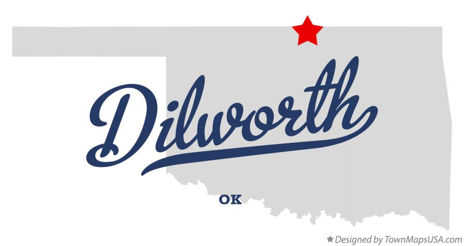 Map of Dilworth Oklahoma OK