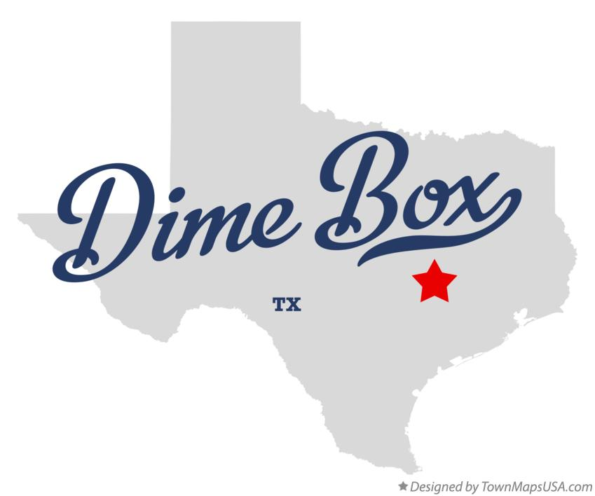 Map of Dime Box Texas TX