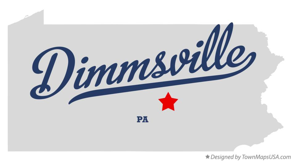 Map of Dimmsville Pennsylvania PA