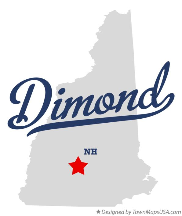Map of Dimond New Hampshire NH