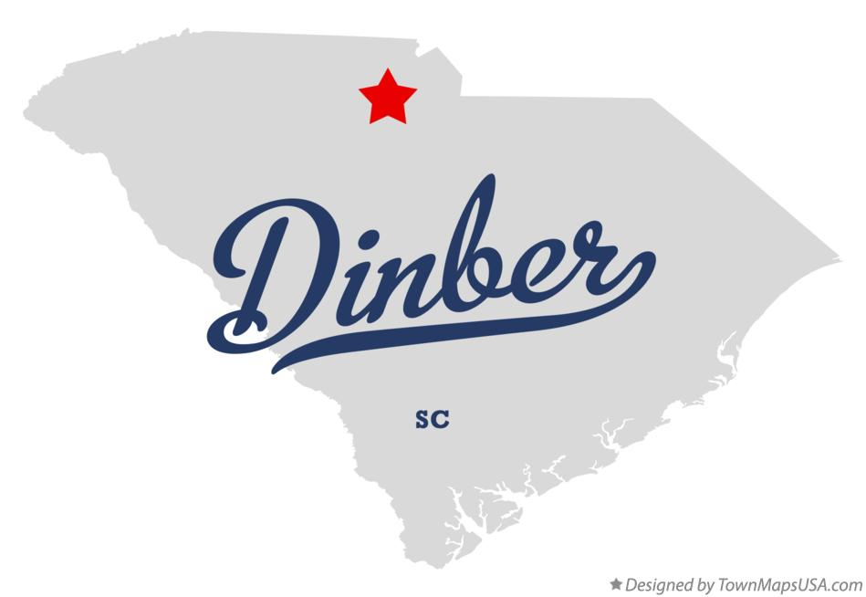 Map of Dinber South Carolina SC