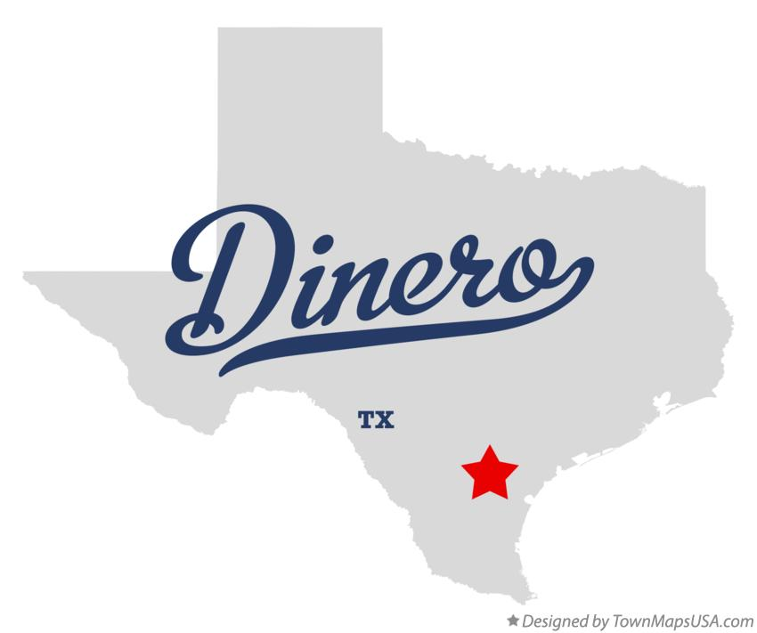 Map of Dinero Texas TX