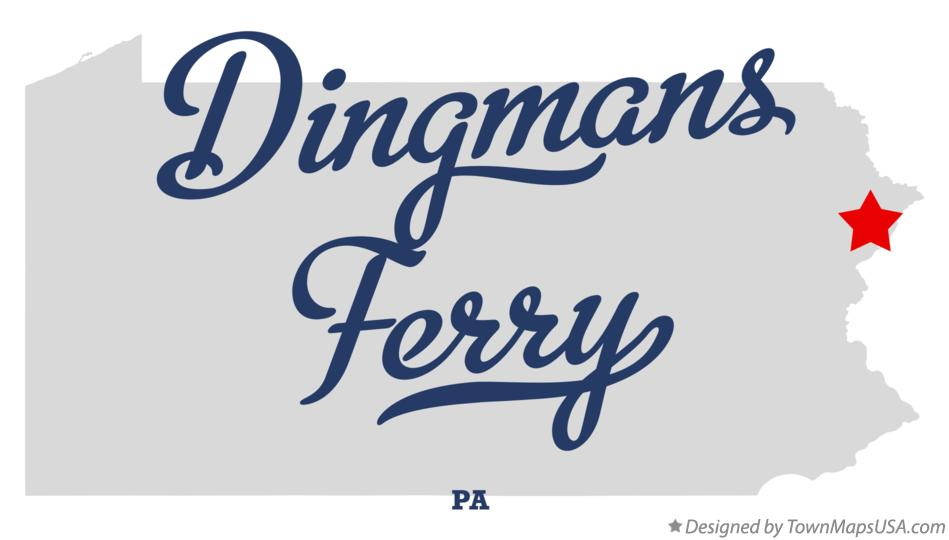 Map of Dingmans Ferry Pennsylvania PA