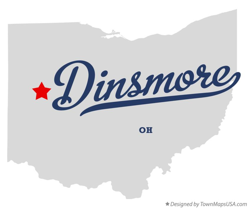 Map of Dinsmore Ohio OH