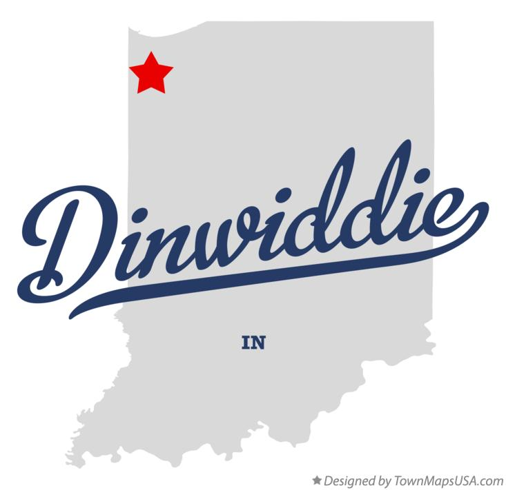 Map of Dinwiddie Indiana IN