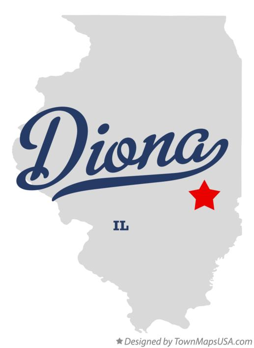 Map of Diona Illinois IL