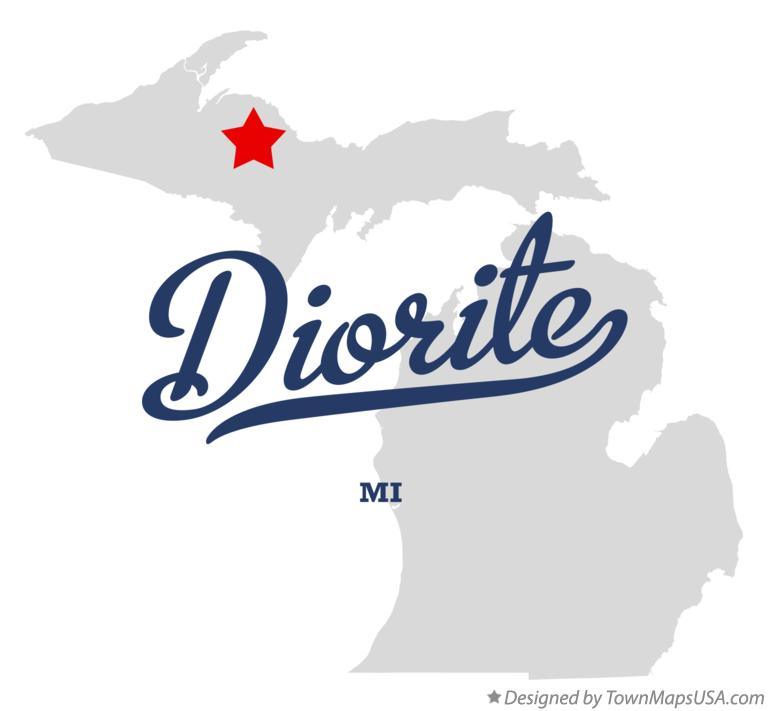 Map of Diorite Michigan MI