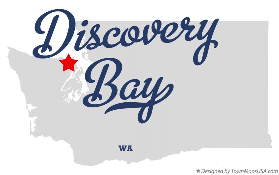 Map Of Discovery Bay Wa Washington