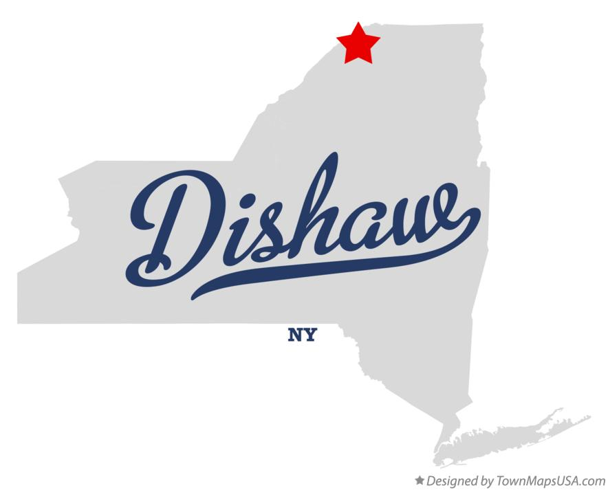 Map of Dishaw New York NY