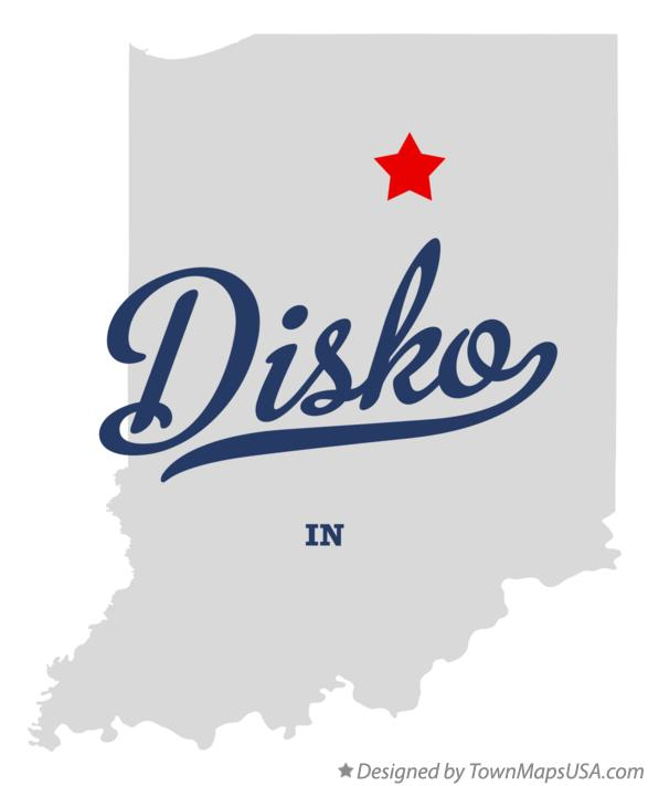 Map of Disko Indiana IN