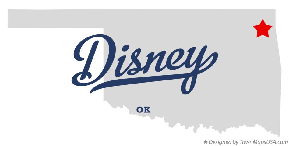 Map of Disney Oklahoma OK