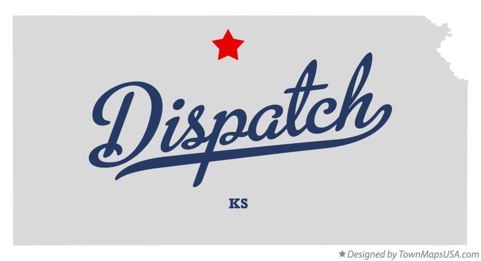 Map of Dispatch Kansas KS