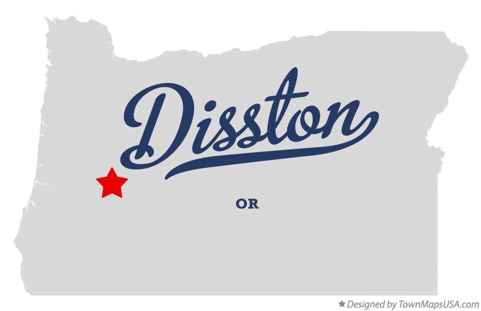 Map of Disston Oregon OR