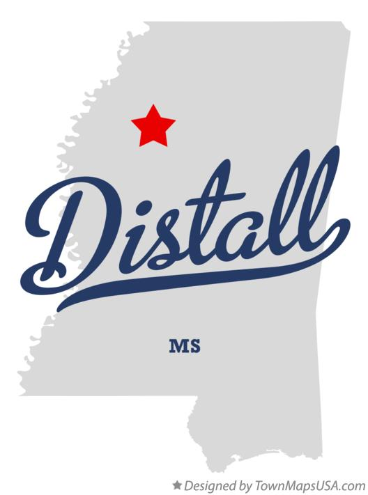 Map of Distall Mississippi MS