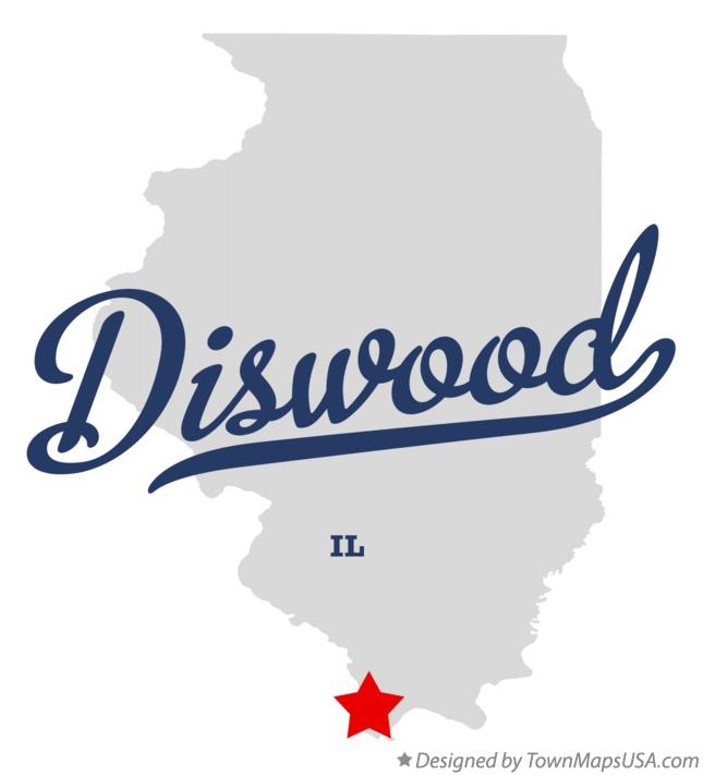 Map of Diswood Illinois IL