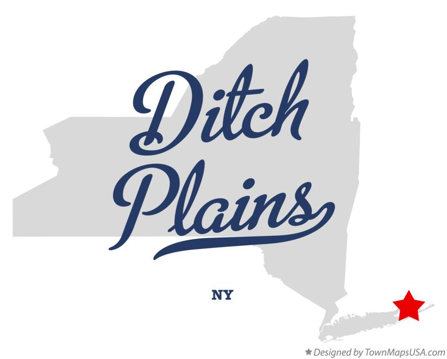 Map of Ditch Plains New York NY